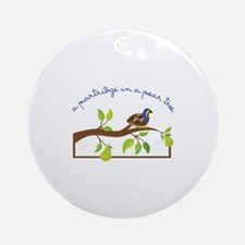 A Partridge In A Pear Tree Ornament (Round)