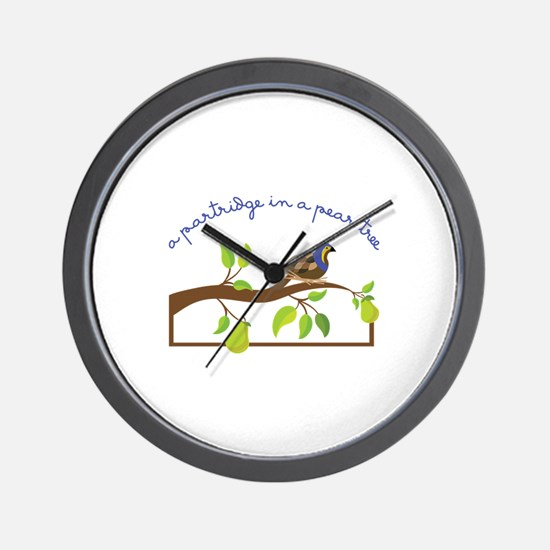 A Partridge In A Pear Tree Wall Clock