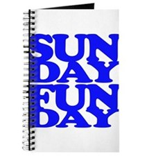 Sunday Funday Blue Journal
