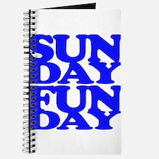 Sunday Funday Blue Journal