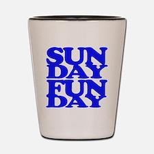 Sunday Funday Blue Shot Glass