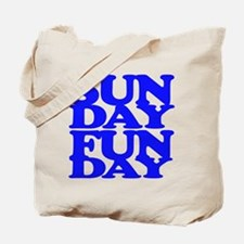 Sunday Funday Blue Tote Bag