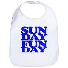 Sunday Funday Blue Bib