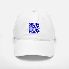 Sunday Funday Blue Baseball Baseball Baseball Cap