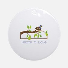 Pease A Love Ornament (Round)