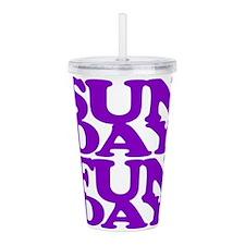 Sunday Funday Purple Acrylic Double-wall Tumbler