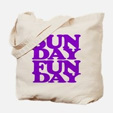 Sunday Funday Purple Tote Bag