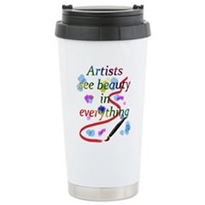 Cute Artist Travel Mug