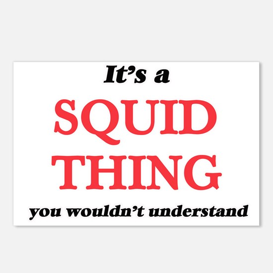 It's a Squid thing, y Postcards (Package of 8)