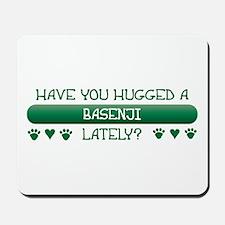 Hugged Basenji Mousepad