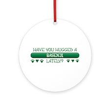 Hugged Basenji Ornament (Round)