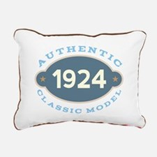 1924 Birth Year Birthday Rectangular Canvas Pillow