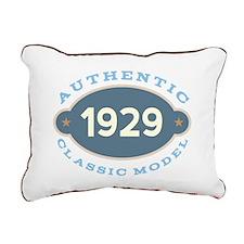 1929 Birth Year Birthday Rectangular Canvas Pillow