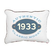 1933 Birth Year Birthday Rectangular Canvas Pillow
