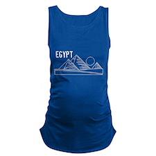 Egypt Pyramids Maternity Tank Top