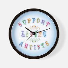 Support Living Artists Wall Clock