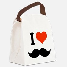 I love mustache Canvas Lunch Bag