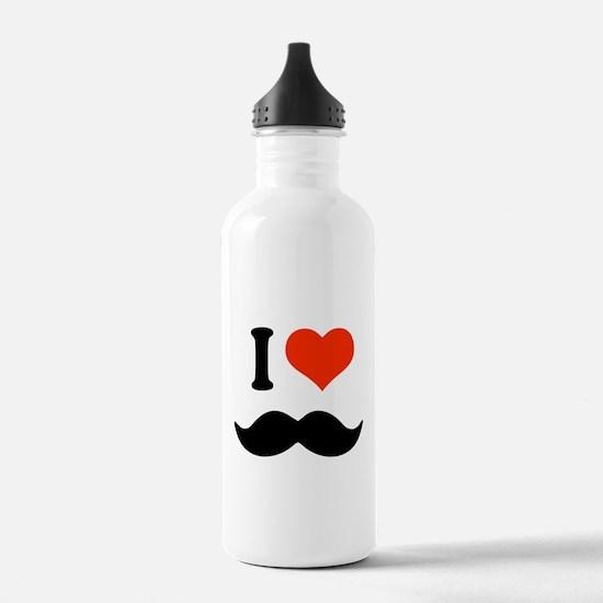 I love mustache Water Bottle