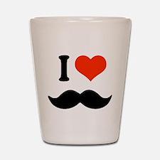 I love mustache Shot Glass