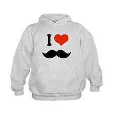 I love mustache Hoody