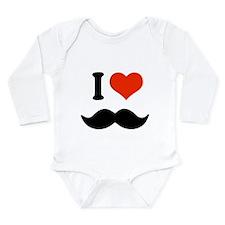 I love mustache Long Sleeve Infant Bodysuit
