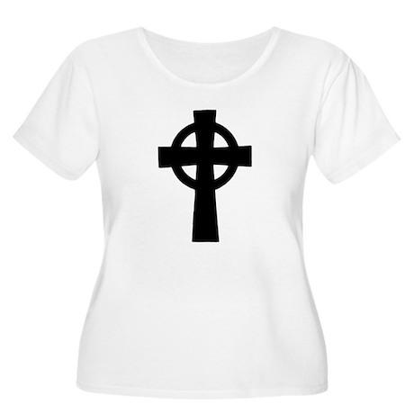 Celtic Cross Women's Plus Size Scoop Neck T-Shirt