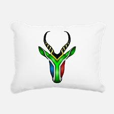 Springbok Flag 2 Rectangular Canvas Pillow