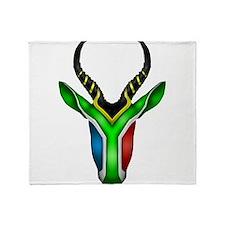 Springbok Flag 2 Throw Blanket