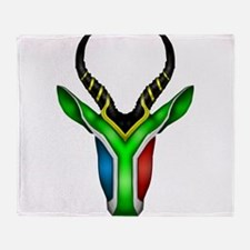 Springbok Flag 2 Throw Blanket