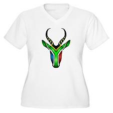 Springbok Flag 2 Plus Size T-Shirt