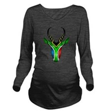Springbok Flag 2 Long Sleeve Maternity T-Shirt