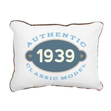 1939 Birth Year Birthday Rectangular Canvas Pillow