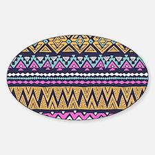 Tribal Pattern Sticker (Oval)