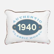 1940 Birth Year Birthday Rectangular Canvas Pillow