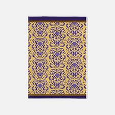 Damask pattern iris venetian gold with borders 5'x