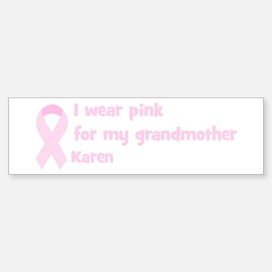 Grandmother Karen (wear pink) Bumper Car Car Sticker