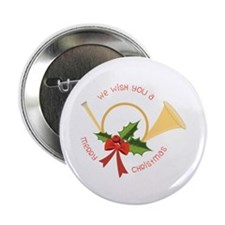 "We Wish You A Merry Christmas 2.25"" Button (10 pac"