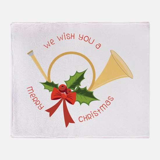 We Wish You A Merry Christmas Throw Blanket