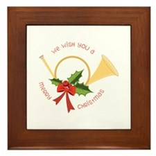 We Wish You A Merry Christmas Framed Tile