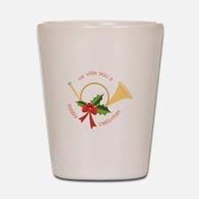 We Wish You A Merry Christmas Shot Glass