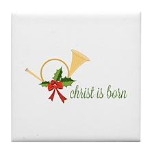 Christ Is Born Tile Coaster