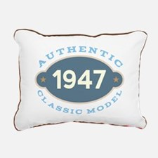 1947 Birth Year Birthday Rectangular Canvas Pillow