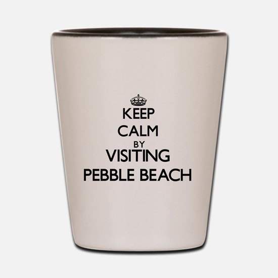 Funny Pebble beach california Shot Glass