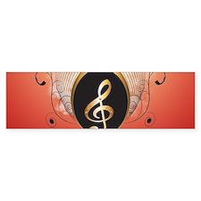 Music, Clef Bumper Bumper Sticker