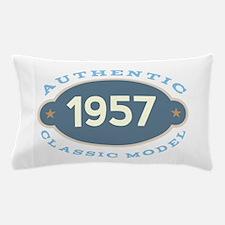 1957 Birth Year Birthday Pillow Case