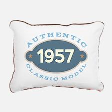 1957 Birth Year Birthday Rectangular Canvas Pillow