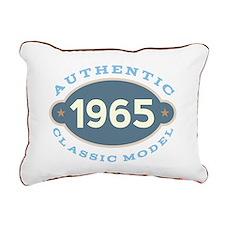 1965 Birth Year Birthday Rectangular Canvas Pillow