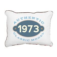 1973 Birth Year Birthday Rectangular Canvas Pillow