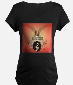 Music, Clef Maternity T-Shirt