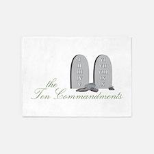 The Ten Commandments 5'x7'Area Rug